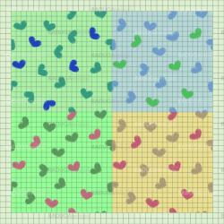 Seamless pattern. Set with sketch hearts on a paper.