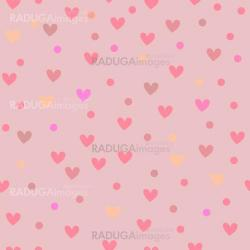 Seamless background pattern with hearts