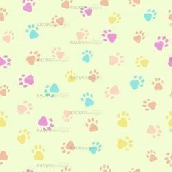 A seamless pattern of cats dogs prints