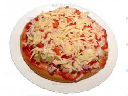 Pizza with paprika isolated