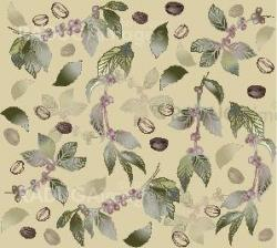 Seamless background with branches coffee tree, fashionable modern wallpaper or textile. Illustration of a coffee tree.