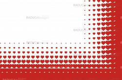 valentines heart halftone background