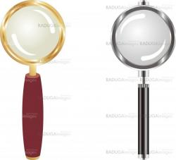 gold and metallic magnifying lens
