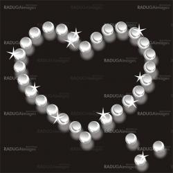 pearls heart  background