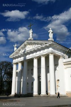Lithuania, Vilnius,Cathedral Place in a sunny day
