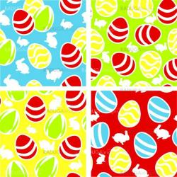 Colorful seamless pattern with easter eggs
