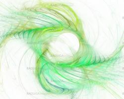 Green abstract feathers